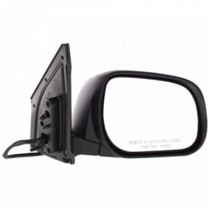 Kool Vue - 09-12 TOYOTA ORAV4 MIRROR RH, Power, Heated, Manual Folding, w/ Signal Lamp, Smooth Black, Japan Built
