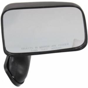 Kool Vue - 89-95 TOYOTA PICKUP MIRROR RH, Black, Door Mount Foldaway, w/ Vent Window, w/ Single Glass Mirrors