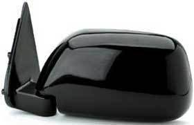 Kool Vue - 89-95 TOYOTA PICKUP MIRROR LH, Manual Folding, Black, Corner Mount, Standard w/o Vent Window Type