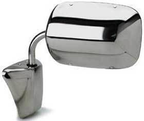 Kool Vue - 73-87 Chevy Pick Up Mirror RH and LH, Manual, Below Eyeline Type Chrome
