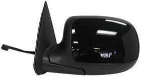 Kool Vue - 99-02 CHEVY SILVERADO MIRROR LH-POWER, BLACK, NON-HEATED, Glossy Back/Paintable