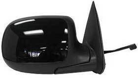 Kool Vue - 99-02 CHEVY SILVERADO MIRROR RH-POWER, BLACK, NON-HEATED, Glossy Back/Paintable