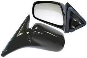 Kool Vue - 99-03 MITSUBISHI GALANT MIRROR LH,Manual, Non-Folding, Black, Flat Glass