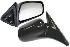 Kool Vue - 99-03 MITSUBISHI GALANT MIRROR RH, Manual, Non-Folding, Black, Convex Glass