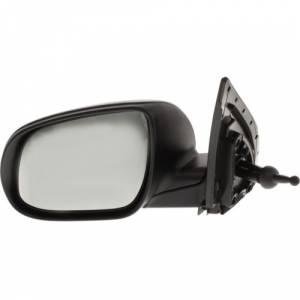 Kool Vue - 06-11 HYUNDAI ACCENT MIRROR LH, Manual Remote, Non-Heated, Manual Folding, Textured Black, Sedan/Hatchback