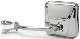 Kool Vue - 71-86  JEEP CJ-SERIES MIRROR LH, Chrome, With Mounting