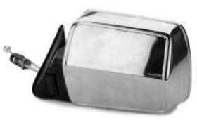 Kool Vue - 84-96 JEEP CHEROKEE MIRROR LH, Manual Remote, Chrome