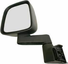 Kool Vue - 03-06 JEEP WRANGLER MIRROR LH, Manual Folding, Full Door Type