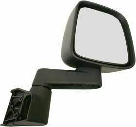 Kool Vue - 03-06 JEEP WRANGLER MIRROR RH, Manual Folding, Full Door Type