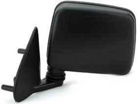 Kool Vue - 86-97 NISSAN PICKUP / 98-04 FRONTIER MIRROR LH, Manual, Black, Pedestal Mount Type