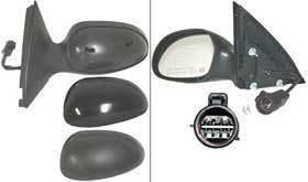 Kool Vue - 02-05 FORD TAURUS/MERCURY SABLE MIRROR LH, Power, Heated, w/Puddle Lamp, Non-Folding