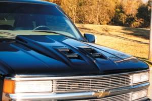Reflexxion - 88-98 Chevy GMC CK Truck Reflexxion Steel Widebody Cowl Ram Air Style Cowl Induction Hood #706601