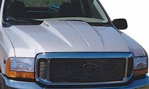 Reflexxion - 99-07 Ford F-250 F-350 Superduty Truck Reflexxion Steel Cowl Induction Hood #703700