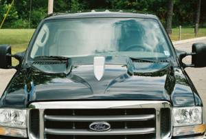 Reflexxion - 00-05 Ford Excursion Reflexxion Steel Eagle Style Cowl Induction Hood #703701