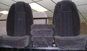 DAP - 73-79 Ford Full Size Truck C-200 Black Cloth Triway Seat