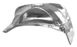 Key Parts - 81-87 CHEVY/GMC C-10 FRONT RH Passenger Side INNER FENDER CHROME