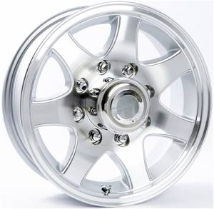 16 in. 8 Lug 7-Spoke Aluminum Trailer Wheel