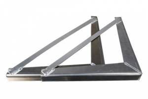 Unique - Unique Brute HD 24 in. x 24 in. Under Body Bracket .125 thick smooth aluminum (1 pair)