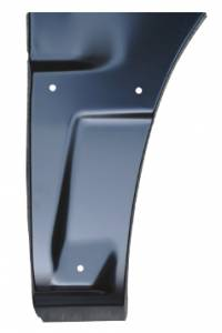 Key Parts - 02-06 Chevy Avalanche LH Driver's Side Front Lower Quarter Panel Section w/ Side Body Cladding