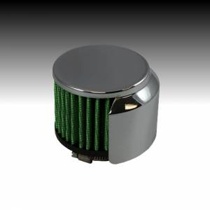 Green Filter - Green Filter High Performance Crank Case Filter w/Deflector Shield