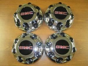 01-10 GMC Sierra 2500 3500 Truck Savanna Van 8 Lug OEM Chrome Center Caps (Set of 4)