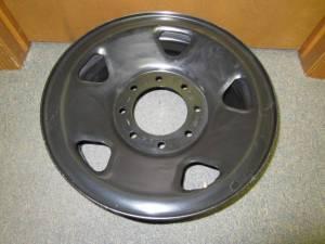 """06-10 Ford F-250, F-350 SuperDuty 17"""" x 7 1/2"""" 8 Lug Black Spare Rim Wheel"""