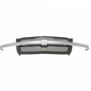 OE - 03-05 Chevy Silverado Chrome Replacement Grille Assembly