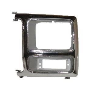 OE - 80-86 Ford F-150/F-250/F-350 Chrome/Charcoal Driver's Side Headlight Bezel