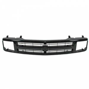 OE - 95-97 Chevy S-Blazer Black Paint-to-Match Replacement Grille Assembly w/ Composite Headlights
