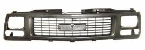 OE - 94-98 GMC C/K Truck/95-99 Yukon Gray/Paint-to-Match Replacement Grille Assembly w/ Composite Headlights