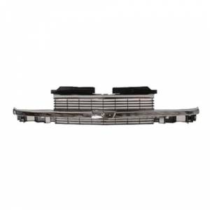 OE - 98-99 Chevy S10 ZR2/LS/LT Chrome Horizontal Bar Replacement Grille Assembly