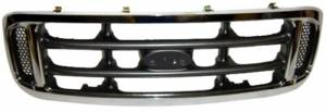 OE - 99-04 Ford F-250/F-350 Super Duty Chrome Replacement Grille Assembly