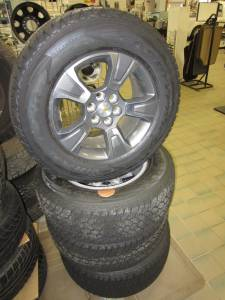"15-16 Chevy Colorado 6 Lug 17"" OEM Wheels & 255/65R17 Goodyear Wrangler All-Terrain Adventure Tires!"