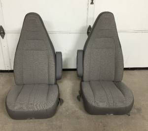97-19 Chevy Express/GMC Savanna Van Pair LH & RH Gray Cloth Bucket Seats