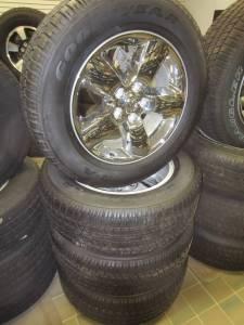 "02-17 Dodge Ram 1500 5 Lug 20"" Chrome Aluminum Wheels & Goodyear Wrangler SR-A P275/60R20 Tires"