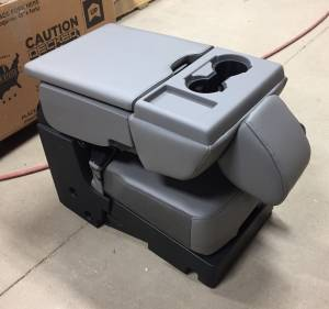 17-19 Ford F-250/F-350 SD 15-19 F-150 OEM Gray 40-20-40 Vinyl Jump Seat Center Console