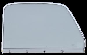 47-50 Chevy/GMC Window Glass (Clear), w/Chrome Trim, RH Passenger's Side