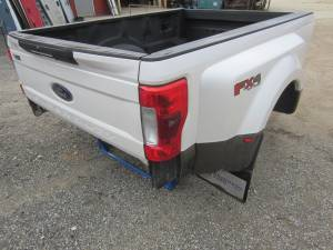 New 17-C Ford F-250/F-350 Super Duty Pearl White/Brown 8' Long Dually Bed Truck Bed