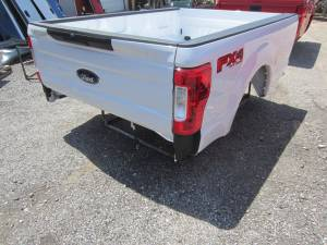 New 17-C Ford F-250/F-350 Super Duty White 8' Long Bed Truck Bed