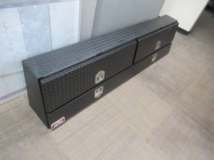 Unique 88-inch Contr Topsider Black Textured Truck Toolbox