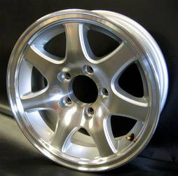14 in. 5-Lug 7-Spoke Aluminum Trailer Wheel