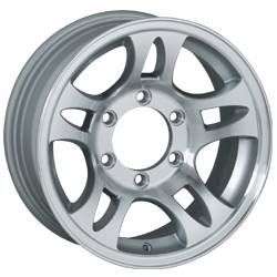 16 in. 6 Lug 10 Star Split Spoke T03 Aluminum Trailer Wheel