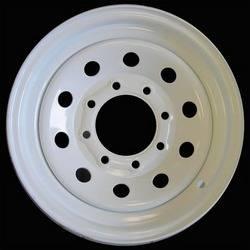 16 in. 8-Lug Mod White Steel Trailer Wheel