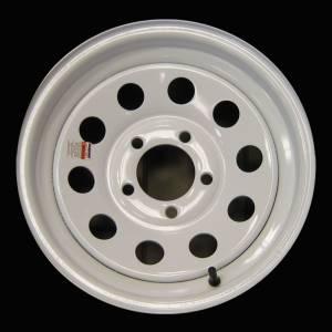 13 in. 5-Lug White Steel Trailer Wheel
