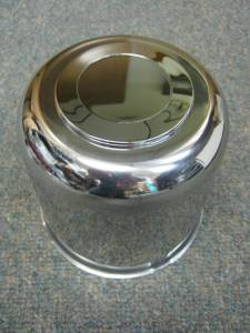 16 in. 8 Lug Trailer Wheel Stainless Steel Large Trailer Center Cap