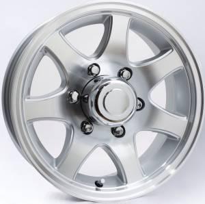 15 in. 6-Lug 7-Spoke Aluminum Trailer Wheel