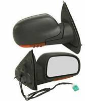 Mirrors - Chevy - Kool Vue - 02-06 CHEVY TRAILBLAZER/02-07 GMC ENVOY MIRROR RH, Power, Heated, Manual Folding, w/ Amber Signal Lamp, Black, Flat