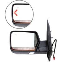 Mirrors - Lincoln - Kool Vue - 11-13 LINCOLN NAVIGATOR MIRROR LH, Power, Heated, Power Folding, Smooth Black, Paint to Match, w/ Memory, w/
