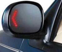 Mirrors - Ford - Kool Vue - 97-99 FORD EXPEDITION MIRROR LH, Power, Non-heated, w/Signal in Glass, Black Cap
