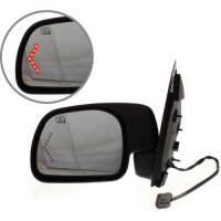 Mirrors - Ford - Kool Vue - 01-05 FORD EXCURSION MIRROR LH, Power, Heated, Manual Folding, Textured, w/ Signal Glass